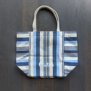 Aritzia Striped Canvas Tote Bag